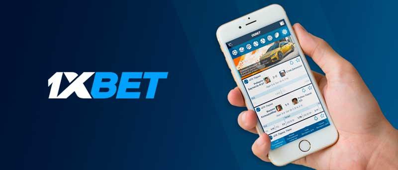 l'appli mobile1xBet sur le téléphone