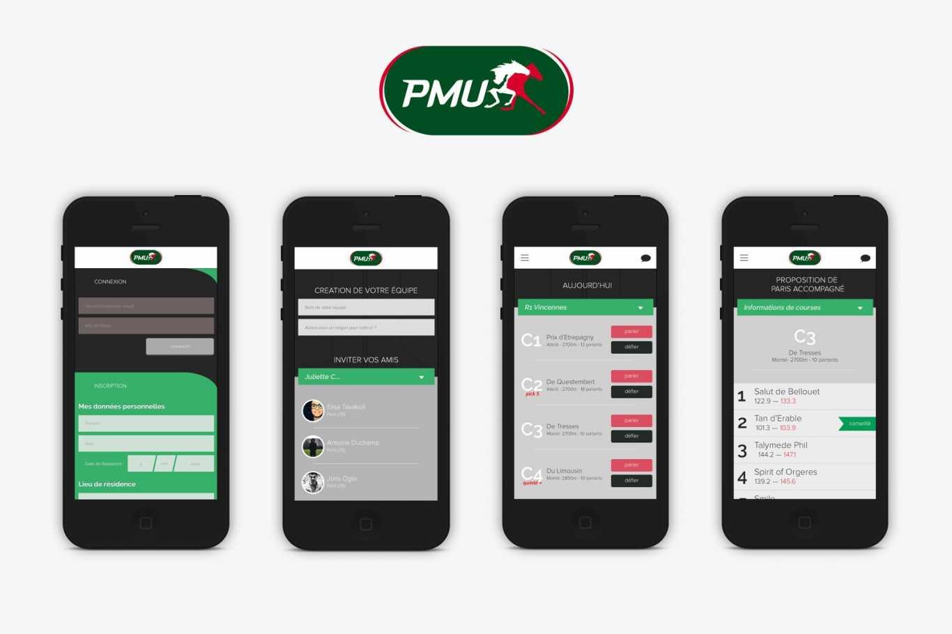 l'application mobile PMU