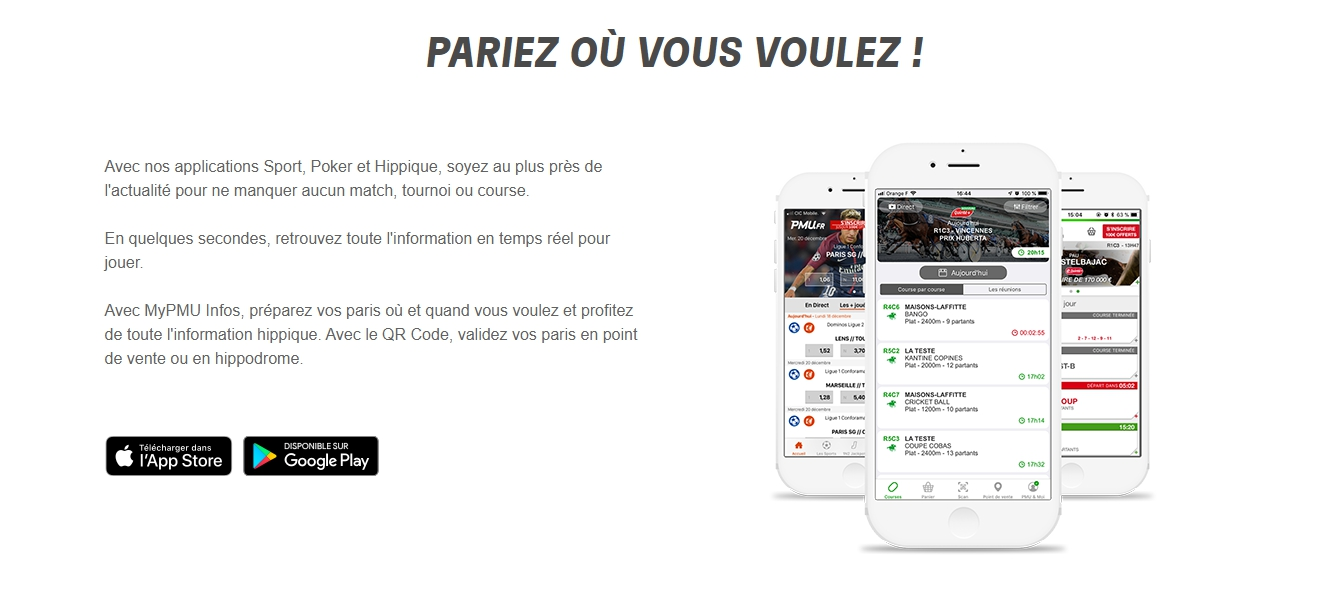 Applications PMU Android et iOS