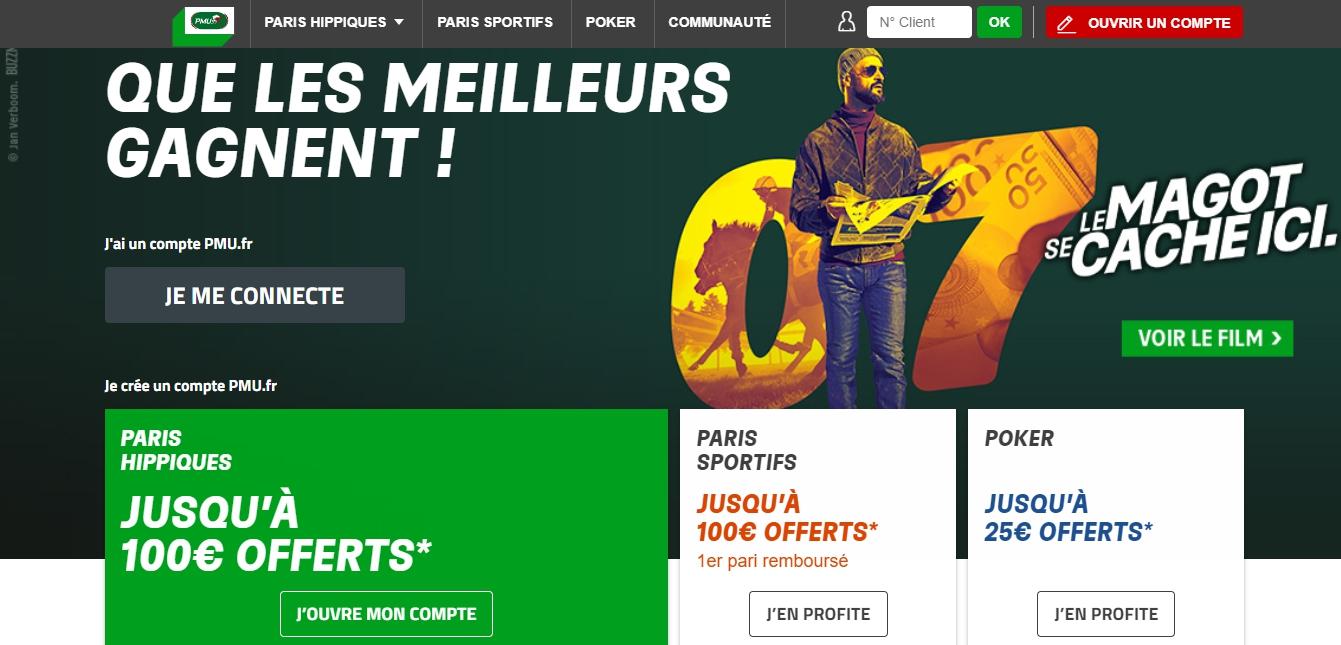 Inscription PMU France