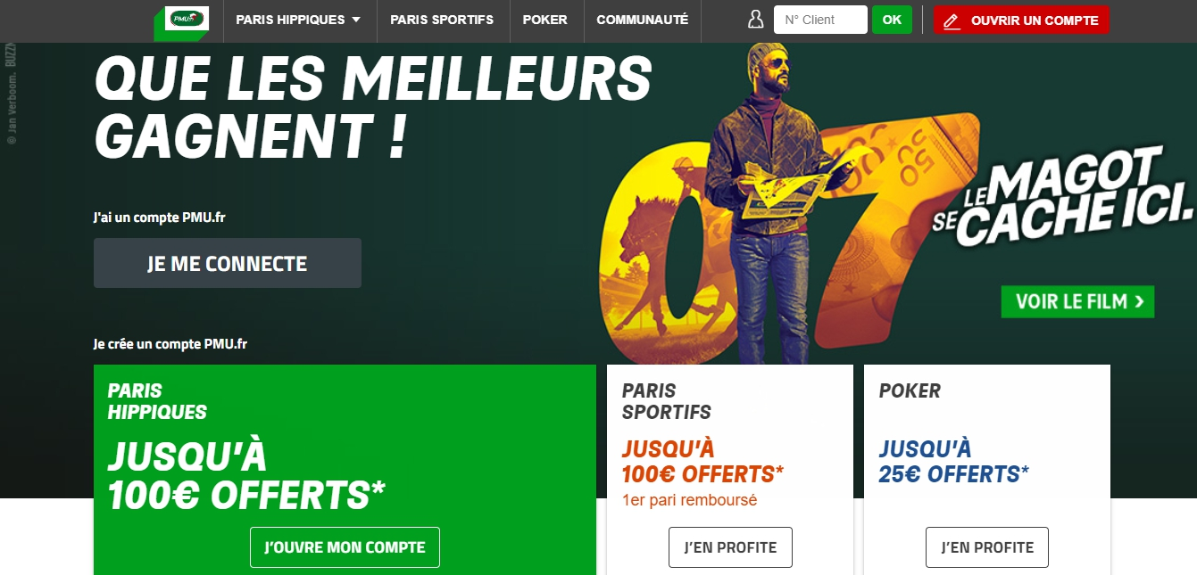 Code promo PMU en France