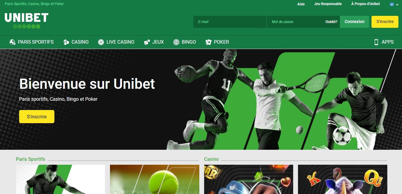 bookmaker Unibet paris sportifs