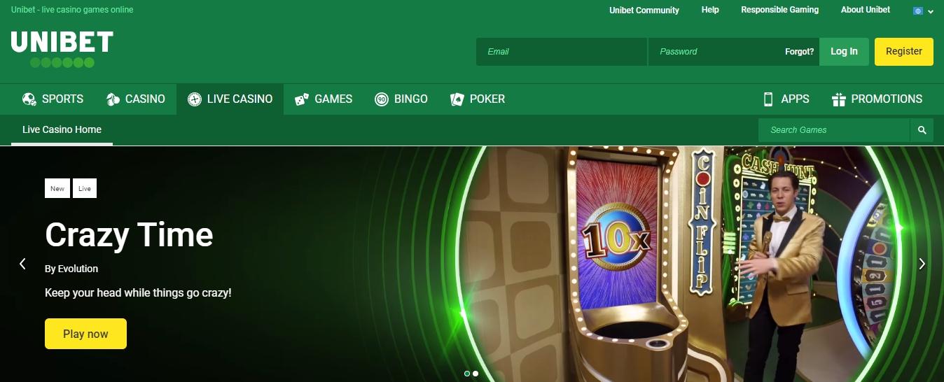 site web du bookmaker Unibet