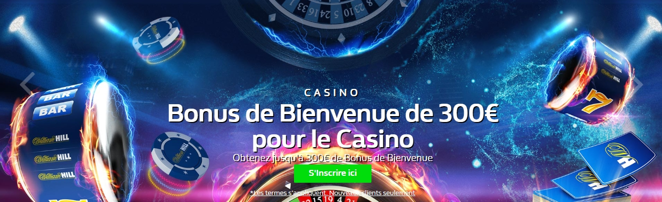 Code promo William Hill casino