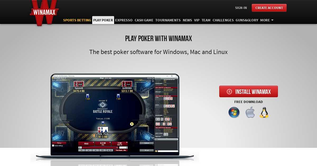Téléchargez l`application Winamax